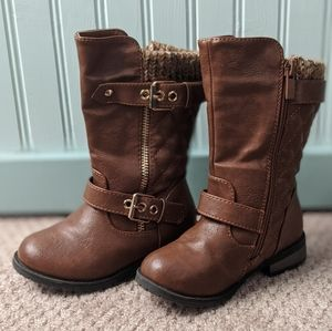 Toddler Girls Brown Boots